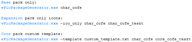 ePic Character Generator Config File Example