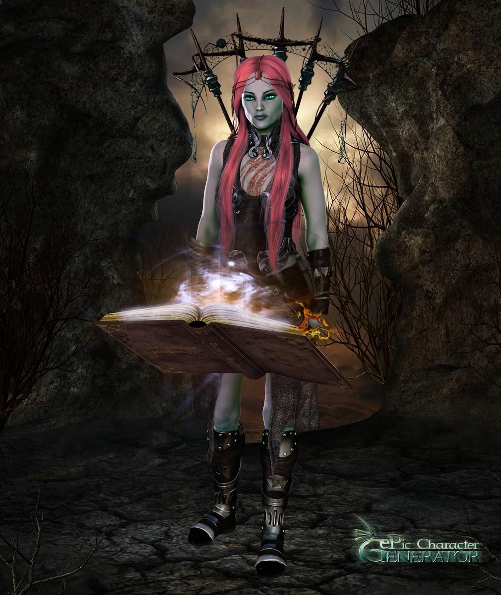 ePic Character Generator Season 2 Female Drow Spellcaster Screenshot 05