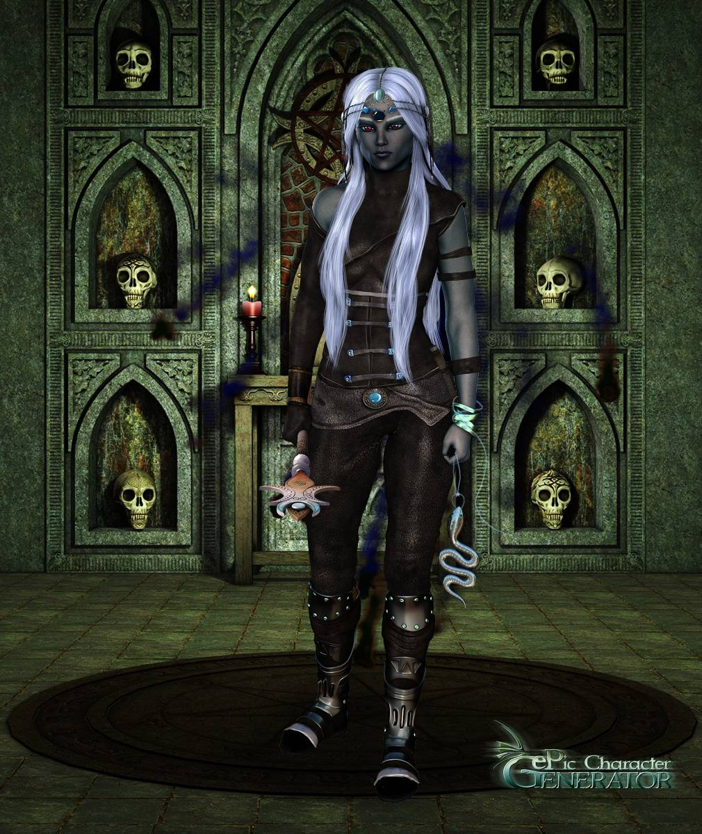 ePic Character Generator Season 2 Female Drow Spellcaster Screenshot 07