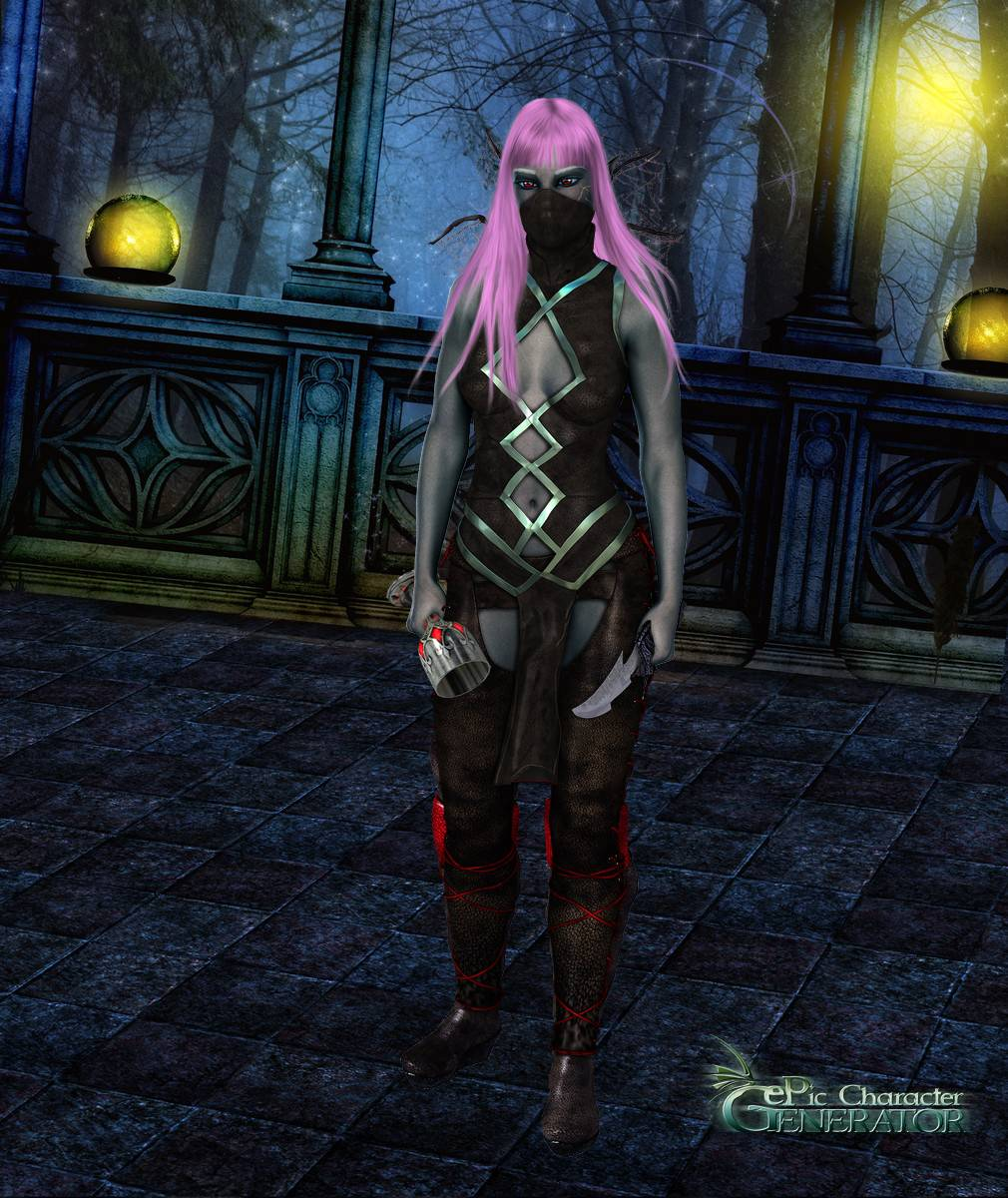 ePic Character Generator Season 2 Female Drow Spellcaster Screenshot 08