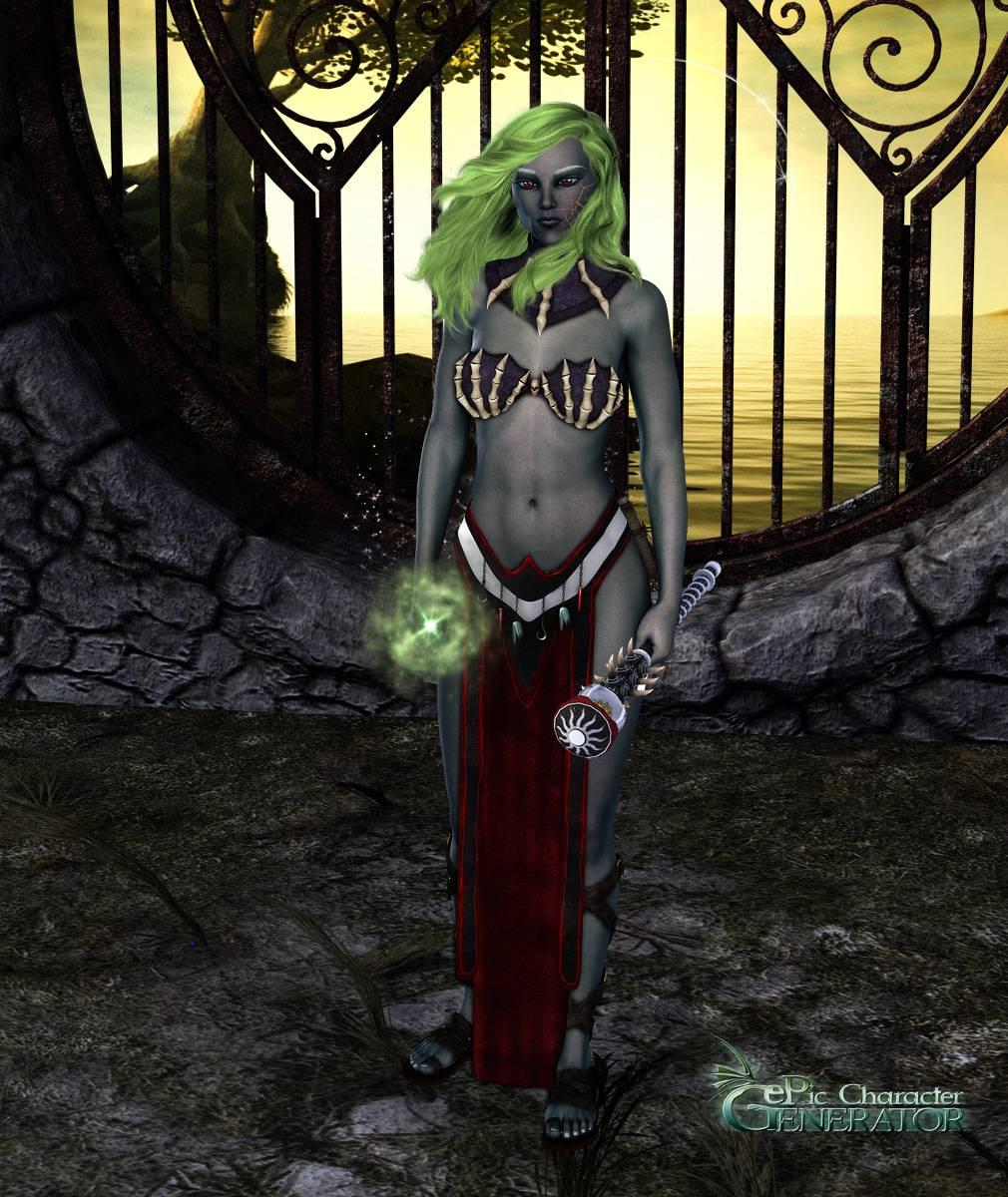 ePic Character Generator Season 2 Female Drow Spellcaster Screenshot 11