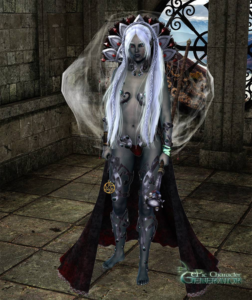 ePic Character Generator Season 2 Female Drow Spellcaster Screenshot 12