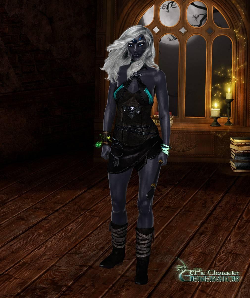 ePic Character Generator Season 2 Female Drow Spellcaster Screenshot 13