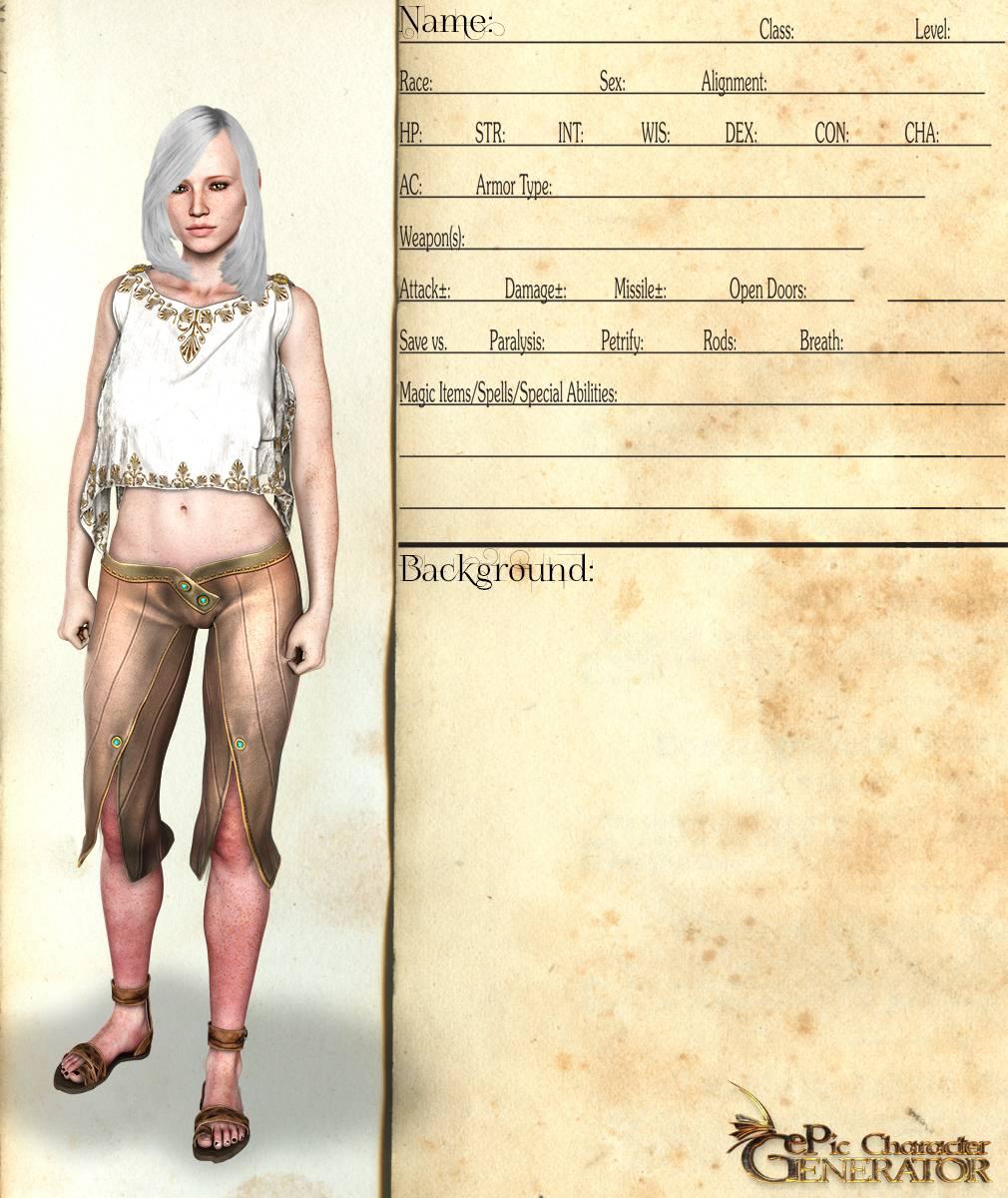 ePic Character Generator Season 2 Female Elf Screenshot 01